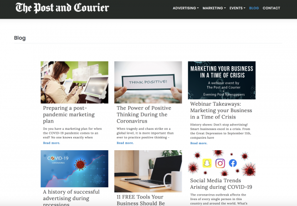 Post and Courier Marketing Blog